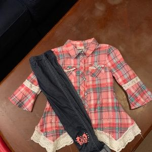 Girl Flannel Outfit